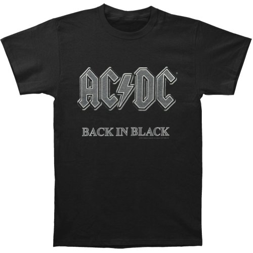 AC/DC Men's Unofficial Back In Black T-shirt, Many Colors - S to XL