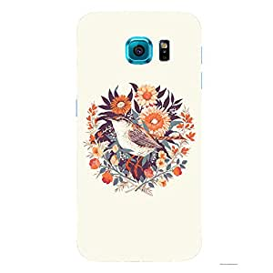 Back cover for Samsung Galaxy S6 Flower Sparrow