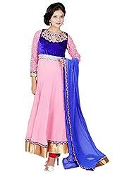 Tehzeeb Women's Faux Georgette Anarkali Salwar Suit - B016BH9T3Y