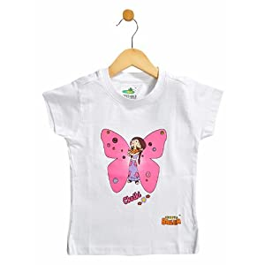t-shirt with flying chutki : white - 3-4 y