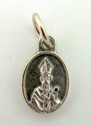 Mini Charm Bracelet Catholic Petite Medal Silver Gild Prayer Saint St Patrick