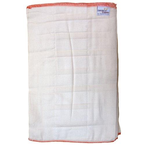 Dandelion Diapers 100% Organic Cotton Dsq Prefolds Dozen - Size 4