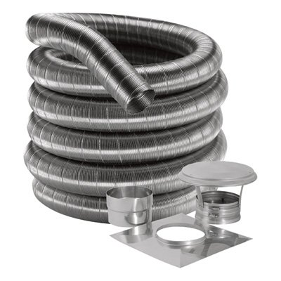 New DuraFlex Stainless Steel Flex Kit - 20ft., Model# 6DF304-20K