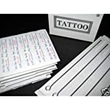 (60) Assorted Pre-sterilized Tattoo Needles with (5) Disp Tips and (5) Disposable Ivory/black Long Grip