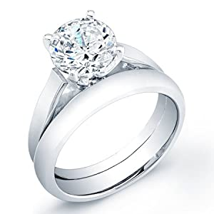 certified 1.90 ct round cut diamond wedding engagement anniversary bridal ring set band