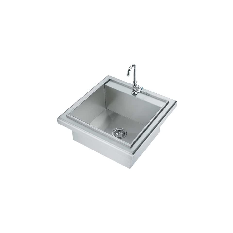 OCI OCIDS 23 Drop In Single Bowl Outdoor Sink   Stainless Steel