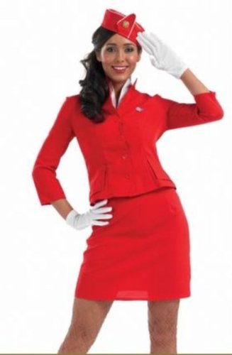 Virgin Atlantic Air Hostess Female Fancy Dress Costume - XXL UK 20-22