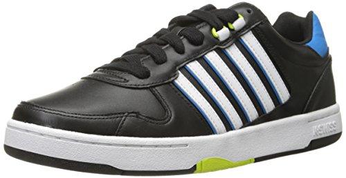 K-Swiss Men's Jackson Shoe, Black/Blue Aster/Lime Punch, 11.5 M US