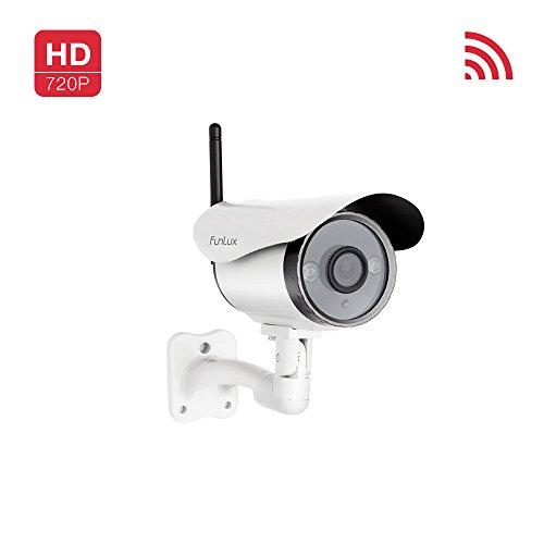 Funlux 720P HD Smart Wireless Surveillance Camera Wifi Outdoor Security Camera (Wireless Video Camera Outdoor compare prices)