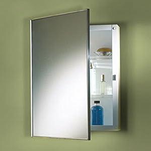 "NuTone M18369301 Basic Styleline Surface Mount 18""W x 36""H Framed Mirror Medicine Cabinet"