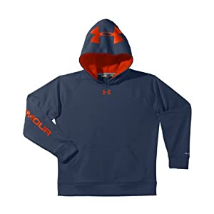 Under Armour Boys' Armour® Fleece Storm Cray Hoodie Youth Small Mechanic Blue