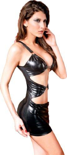 sexy Clubwear-Dress * Gogo Strip * Gr. 34/36 (38) Kleid Minikleid Wetlook