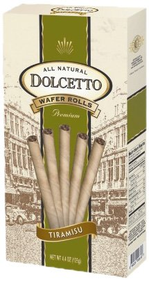 Dolcetto Wafer Rolls, Tiramisu, 4.4-Ounce (Pack of 12)