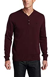 French Connection Men's Auderly Cotton Y-Neck Sweater