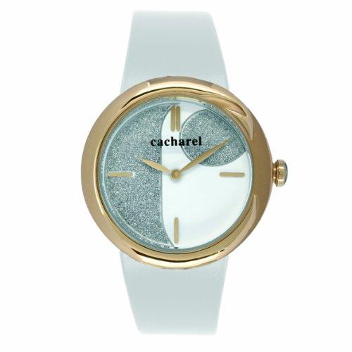 cacharel-cld-004-1bb-montre-femme-quartz-analogique-cadran-blanc-bracelet-cuir-blanc