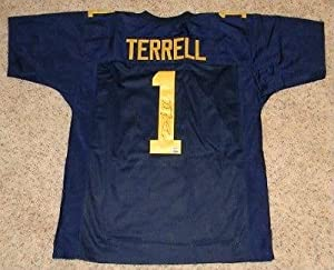 David Terrell Autographed Jersey - Michigan Wolverines #1 Mm by Sports+Memorabilia