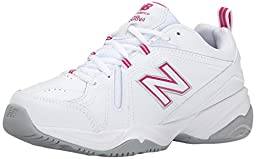 New Balance Women\'s WX608V4 Training Shoe,White/Pink,7.5 B US