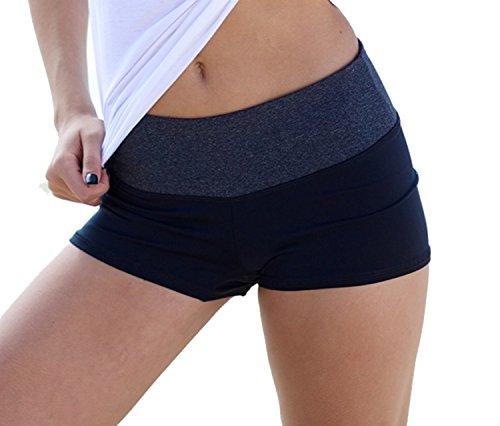 Waist Band Contrast Yoga Fold Over Shorts