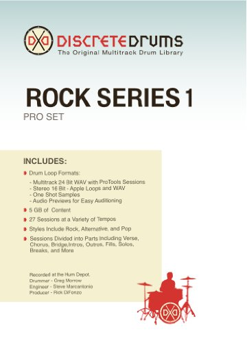 Discrete Drums Rock Series 1 Pro Set