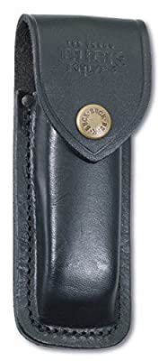 Buck Knives 110FG Famous Folding Hunter Knife with Finger Grooves includes Genuine Leather Sheath