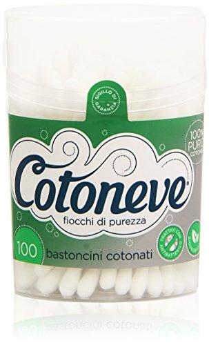 Cotoneve - Bastoncini Cotonati, Trattati con Antibatterico , 100 Bastoncini
