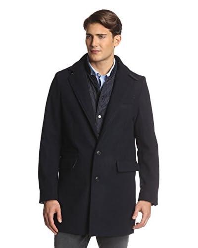 Sean John Mens Top Coat With Bib