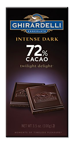 Ghirardelli Chocolate Intense Dark Bar, Twilight Delight 72% Cacao, 3.5-Ounce Bars (Pack of 6) (Ghirardelli Bar compare prices)