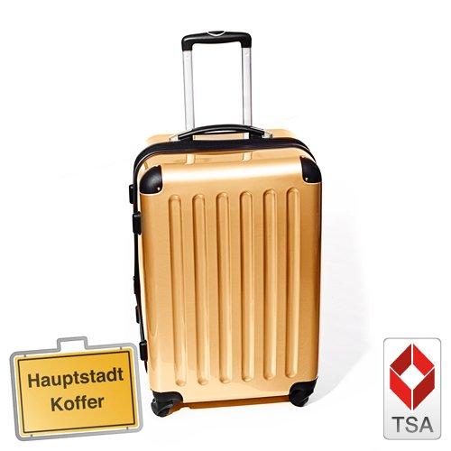 Hartschalen Koffer Champagner Hochglanz max.87
