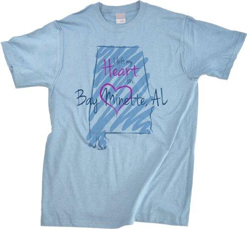 I Left My Heart In Bay Minette, Al Unisex T-Shirt | Alabama Pride-X-Large front-668592
