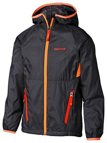marmot-ether-bambina-giacca-con-cappuccio-scuro-acciaio-arancione-brillante-orange-m