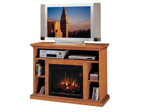 buy low price classic flame beverly electric fireplace and tv stand in premium oak finish. Black Bedroom Furniture Sets. Home Design Ideas
