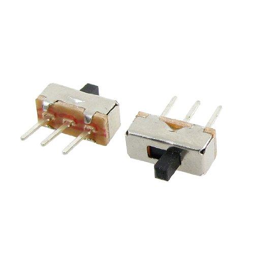 Uxcell a12013100ux0116 High Knob 3P 2 Position 1P2T SPDT Vertical Slide Switch, 0.5 Amp, 50V DC, 50 Piece, 3 mm (Spdt Slide Switch compare prices)