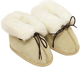 Slipper Hut SS-04 Infant winter Genuine Australian Sheepskin fur lining moccasins