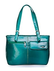 "Barbarian Stylish Green Hand Bag For "" Woman Traveller"""