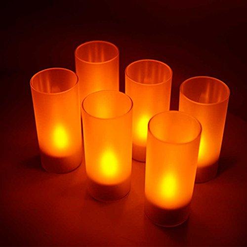 キャンドルライト 充電式 LED 6個セット お部屋やお店のムード作りに テーブルライト【VLN-EN8078A】