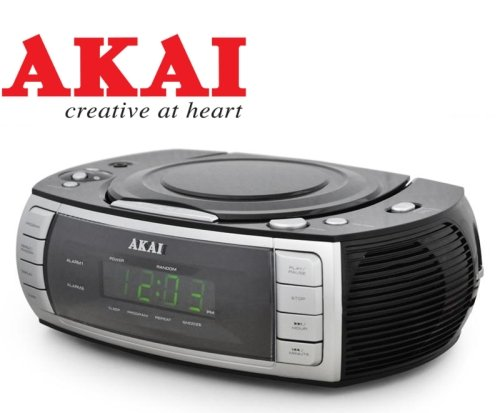 Radio/Sveglia/Lettore cd/Clockradio/Cdplayer Akai -ARC120BK