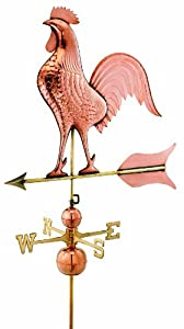 Good Directions 616P Barn Rooster Estate Weathervane, Polished Copper