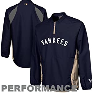 New York Yankees Majestic Cooperstown Navy Triple Peak Cool Base Gamer Jacket by Majestic