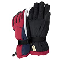 Mens Thinsulate Heavy Skiing/Snowboarding/Outdoor Sports Thermal Gloves with Palm Grip (3M 40g) (One Size) (Red)