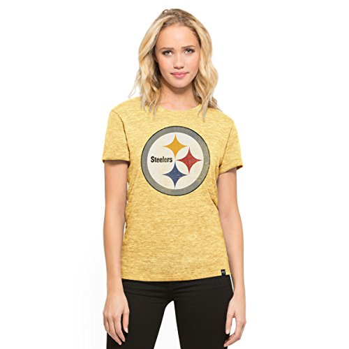 NFL Pittsburgh Steelers Women's '47 MVP Hero Tee, Large, Honey Gold (Boston Honey Company compare prices)