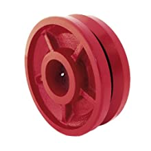RWM Casters V-Groove Wheel with Straight Roller Bearing 2500 lbs Capacity