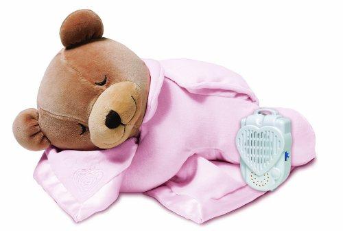 Prince Lionheart 0015B - Orsetto di peluche Tummy Sleep con monitor del sonno, colore: Rosa