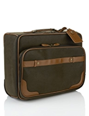 Flocked Wheeled Mobile Office Bag