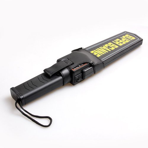 Adjustable Sensitivity and Vibration Alert- Portable Security Hand Held Metal Detector Wand Scanner