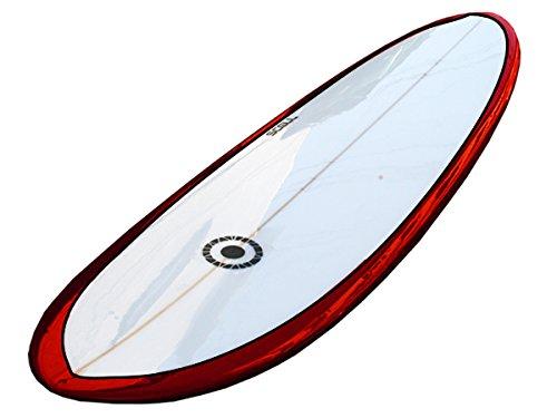 ファンボード7'4 赤●@レールにピンライン有り サーフボード《SCELL》 サーフィン