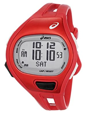 Asics Unisex CQAP0104 Cadence SPM Red Digital Running Watch by Asics