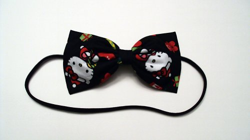 A Very Hello Kitty Christmas Hair Bow Headband