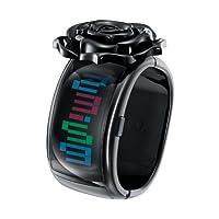 [オーディーエム]o.d.m 腕時計 Pixel Daze (ピクセル・デイズ) デジタル表示 フラワー ブラック DD109A-3 レディース