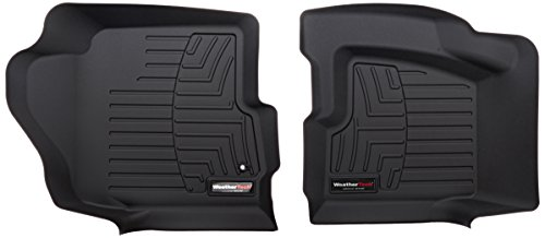 WeatherTech Custom Fit Front FloorLiner for Select Cadillac/GMC/Chevrolet Models (Black) (Weathertech Floor Mats Sierra compare prices)