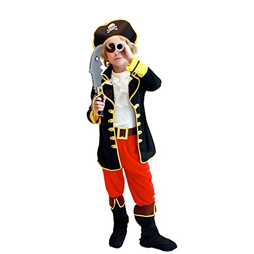NonEcho Halloween Costumes for Kids Western Pirate Costume for Boys Children